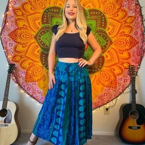 //VINTAGE// Tropical abstract skirt